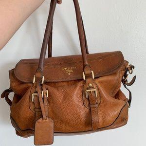 Vintage Prada brown leather purse